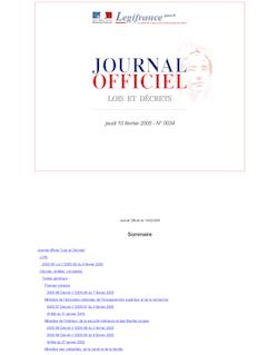 Journal officiel n°34 du 10 février 2005