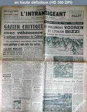 L' INTRANSIGEANT  du 26 juin 1947