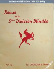 REVUE DE LA 5 EME DIVISION BLINDEE numéro 12 du 15 octobre 1946