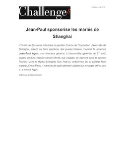 Jean-Paul sponsorise les mariés de Shanghai