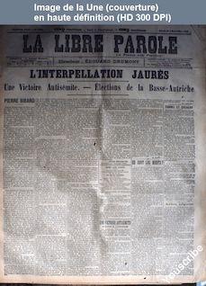 LA LIBRE PAROLE  numéro 1662 du 06 novembre 1896