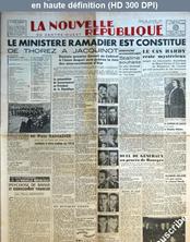 LA NOUVELLE REPUBLIQUE  numéro 741 du 23 janvier 1947