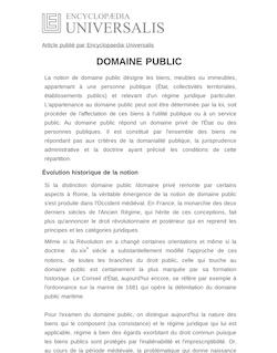 Définition de : DOMAINE PUBLIC