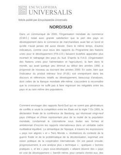 Définition et synonyme de : NORD/SUD