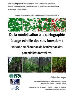 De la modélisation à la cartographie à large échelle des sols ...