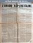 L' UNION REPUBLICAINE DE FONTAINEBLEAU  numéro 1220 du 06 avril 1889