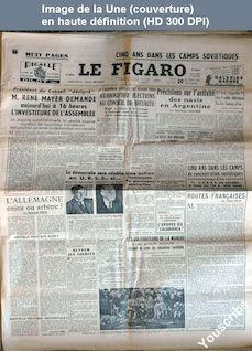LE FIGARO  numéro 1591 du 20 octobre 1949