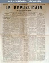 LE REPUBLICAIN DE SEINE ET MARNE  numéro 1248 du 20 avril 1884