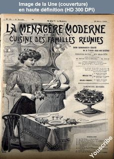 LA MENAGERE MODERNE  numéro 13 du 28 mars 1909