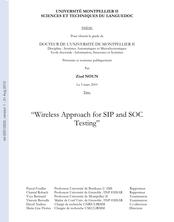 Méthode de test sans fil en vue des SIP et des SOC