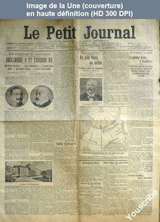 LE PETIT JOURNAL  numéro 16300 du 16 août 1907