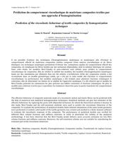 Prédiction du comportement viscoélastique de matériaux composites textiles par une approche d'homogénéisation