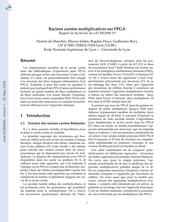 Racines carrées multiplicatives sur FPGA