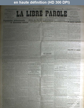 LA LIBRE PAROLE  du 24 mars 1922