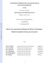 ROLE DU CORTEX MOTEUR DANS LA MODULATION DES AFFERENCES SOMESTHESIQUES. MODELE DE LA STIMULATION ELECTRIQUE DU CORTEX MOTEUR