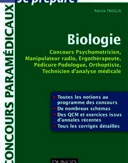 Biologie - Concours Psychomotricien, Manipulateur Radio, Ergothérapeute