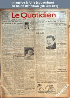 LE QUOTIDIEN  numéro 620 du 21 octobre 1924