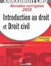 Annales corrigées 2013 - Introduction au droit et droit civil - Licence de droit 1re année