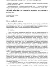 Urgences en gynécologie obstétrique Les CHRU de la Région Ouest