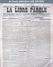 LA LIBRE PAROLE  numéro 5941 du 27 juillet 1908