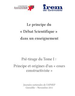 Edition A4 Le principe du débat scientifique pré-tirage octobre 2011