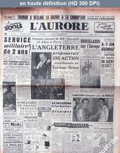 L' AURORE  numéro 2259 du 18 décembre 1951