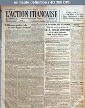 L' ACTION FRANCAISE  numéro 291 du 18 octobre 1918
