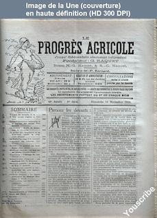 LE PROGRES AGRICOLE  numéro 2416 du 11 novembre 1934