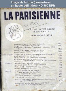 LA PARISIENNE  du 01 novembre 1953