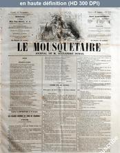 LE MOUSQUETAIRE  numéro 316 du 12 novembre 1855
