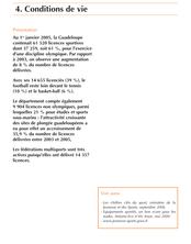 Tableaux Économiques Régionaux de Guadeloupe 2007 : Conditions de vie