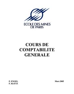 COURS DE COMPTABILITE GENERALE