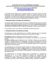 EL BALANCE SOCIAL EN LAS EMPRESAS SOLIDARIAS