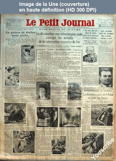 LE PETIT JOURNAL  numéro 26157 du 28 août 1934