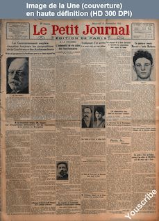 LE PETIT JOURNAL  numéro 22224 du 21 novembre 1923