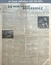 LA NOUVELLE REPUBLIQUE  numéro 541 du 27 mai 1946