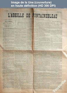 L' ABEILLE DE FONTAINEBLEAU  numéro 23 du 07 juin 1895