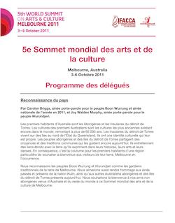 5e Sommet mondial des arts et de la culture