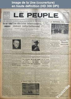 LE PEUPLE  numéro 3145 du 23 août 1929
