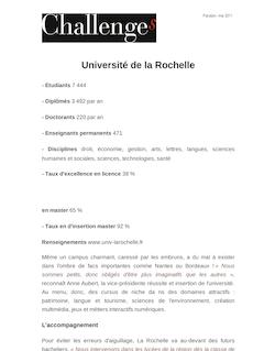 Université de la Rochelle