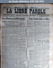 LA LIBRE PAROLE  numéro 3799 du 14 septembre 1902
