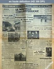 LA NOUVELLE REPUBLIQUE  numéro 2992 du 15 juillet 1954