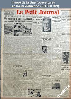 LE PETIT JOURNAL  numéro 24074 du 14 décembre 1928
