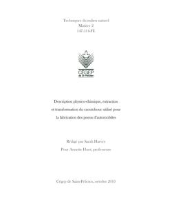 Techniques du milieu naturel Matière 2 147-514-FE Description ...