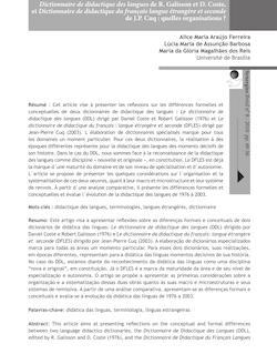 Dictionnaire de didactique des langues de R. Galisson et D. Coste ...