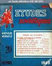 ETUDES SOVIETIQUES numéro 20 du 01 décembre 1949