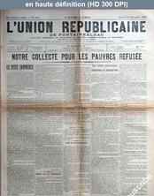 L' UNION REPUBLICAINE DE FONTAINEBLEAU  numéro 1814 du 15 décembre 1894