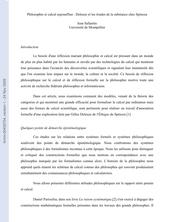 Philosophie et calcul aujourd'hui : Deleuze et les triades de la substance chez Spinoza