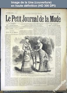 LE PETIT JOURNAL DE LA MODE  numéro 21 du 06 juin 1880