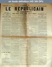 LE REPUBLICAIN DE SEINE ET MARNE  numéro 1322 du 15 octobre 1884